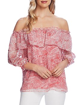 VINCE CAMUTO - Ruffled Off-the-Shoulder Top
