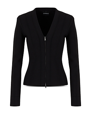 Emporio Armani Fitted Zipper Blazer