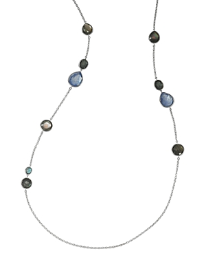 Ippolita STERLING SILVER ROCK CANDY MIXED STONE LONG STATEMENT NECKLACE, 40