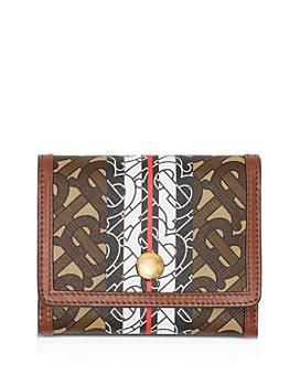 Burberry - Small Monogram Stripe E-Canvas Folding Wallet