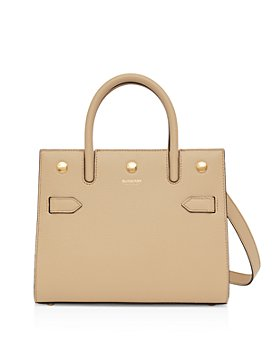 Burberry - Mini Leather Two-Handle Title Bag