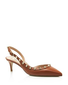 Valentino Garavani - Women's Rockstud Pebbled Leather Pumps
