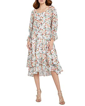 Alice and Olivia - Miora Floral Ruffled Dress