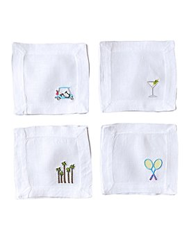 Lettermade - Country Club Linen Cocktail Napkins, Set of 4 - 100% Exclusive