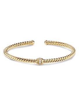 David Yurman - Renaissance Center Station Bracelet 18K Yellow Gold with Diamonds