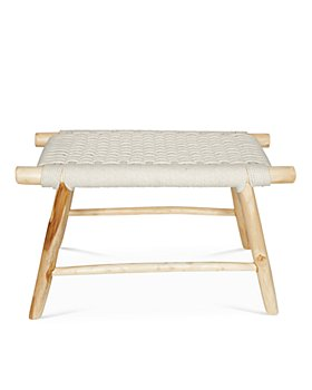 Baum-Essex - Ventura Woven Rope and Teak Double Stool