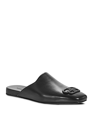Balenciaga Men's Cosy Bb Leather Slippers