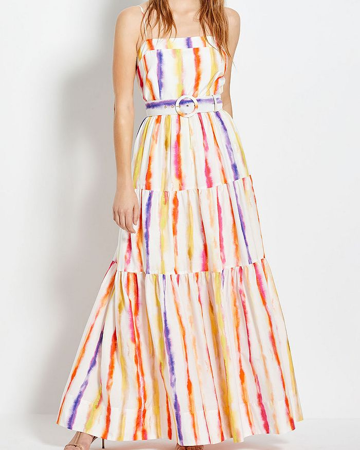 Nicholas Kerala Striped Belted Maxi Dress