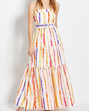 Nicholas KERALA STRIPED BELTED MAXI DRESS