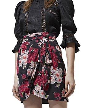 The Kooples - Raspberry Shades Floral Print Skirt