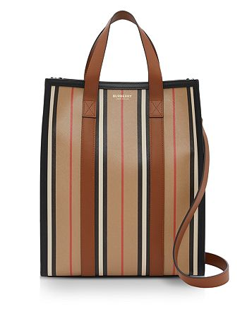 Burberry - Small Icon Stripe E-Canvas Portrait Tote