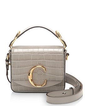 Chloé - C Mini Croc Embossed Leather Crossbody