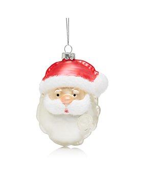 Bloomingdale's - Glass Santa Head Ornament - 100% Exclusive