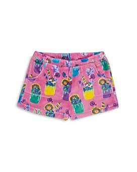 Candy Pink - Girls' Milkshake Fleece Pajama Shorts - Big Kid