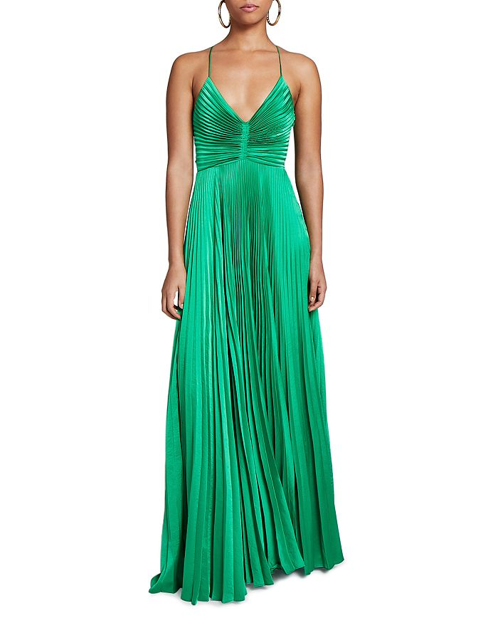 A.L.C. - Aries Pleated Open Back Dress