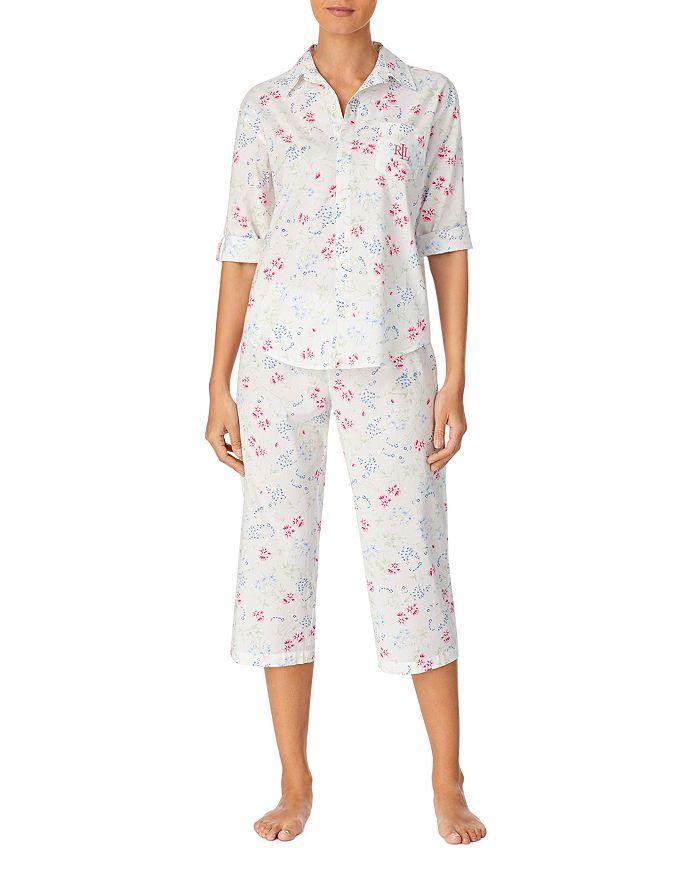 Ralph Lauren - Floral Print Woven Capri Pants Pajama Set