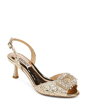 Badgley Mischka - Women's Gaela Embellished Slingback Sandals