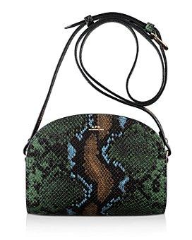 A.P.C. - Sac Demi Lune Mini Leather Crossbody Bag