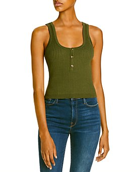 LINI - Ribbed Knit Henley Tank - 100% Exclusive