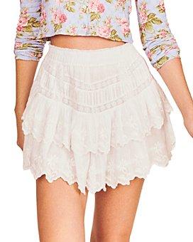 LoveShackFancy - Emilia Cotton Embroidered Mini Skirt