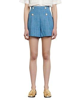 Sandro - Moly High Rise Tweed Shorts