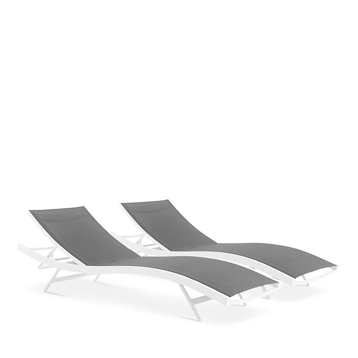 Modway - Glimpse Outdoor Patio Mesh Chaise Lounge Chair, Set of 2