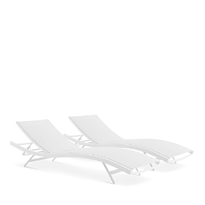 Modway Glimpse Outdoor Patio Mesh Chaise Lounge Chair, Set of 2
