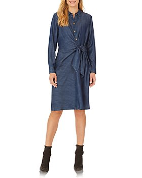 Foxcroft - Parisian Tie Front Cotton Dress