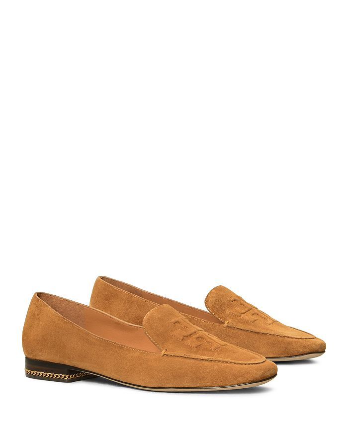 Tory Burch - Women's Ruby Logo Square Toe Loafer Flats