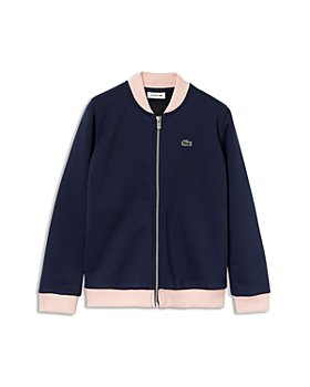 Lacoste - Girls' Full-Zip Bomber Jacket - Little Kid, Big Kid