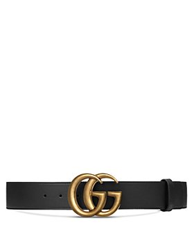 Gucci - Women's Leather Belt with Interlocking Double G Buckle