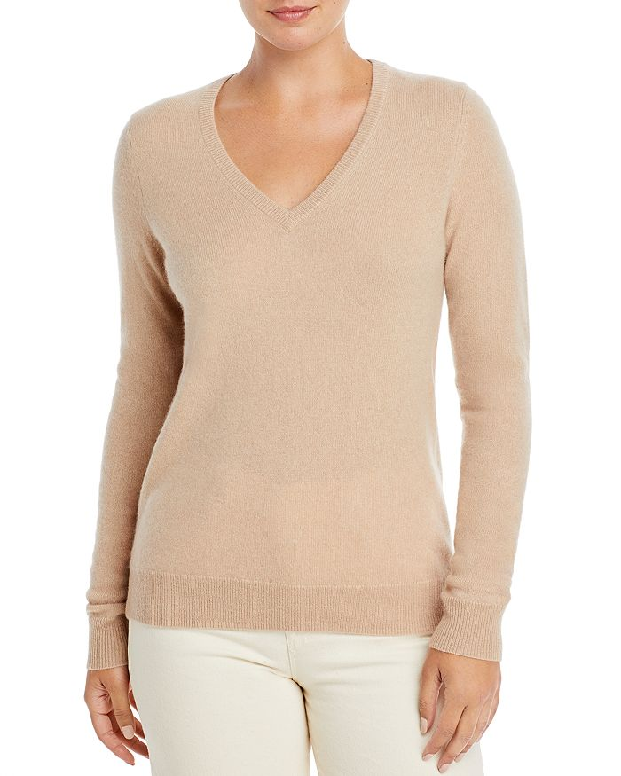V Neck Cashmere Sweater 100% Exclusive