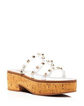 Valentino Garavani - Women's Rockstud Caged Platform Slide Sandals