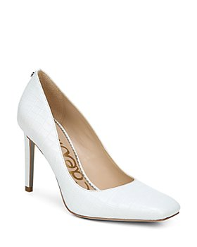 Sam Edelman - Women's Beth Square Toe Embossed High Heel Pumps