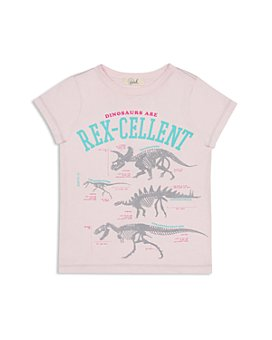 Peek Kids - Girls' Rex-Cellent Cotton Graphic Tee - Little Kid, Big Kid