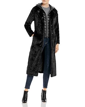 Herno Hooded Faux Fur Coat-Women