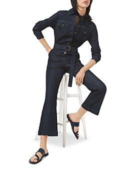 MICHAEL Michael Kors - Denim Flared Leg Jumpsuit