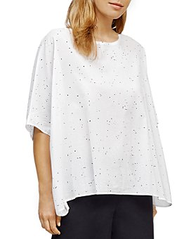 Eileen Fisher - Splatter Print Cotton Box Top