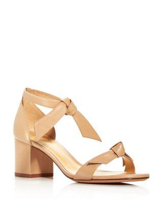 Clarita Ankle Tie Block Heel Sandals