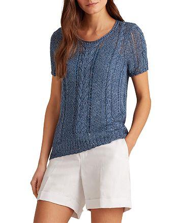 Ralph Lauren - Short Sleeve Cable Sweater