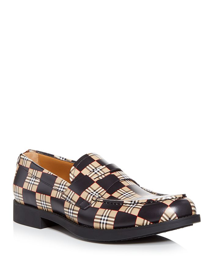 Burberry - Men's Emile Checkered Penny Loafers