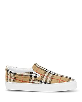 Burberry - Women's Thompson Vintage Check Slip On Sneakers