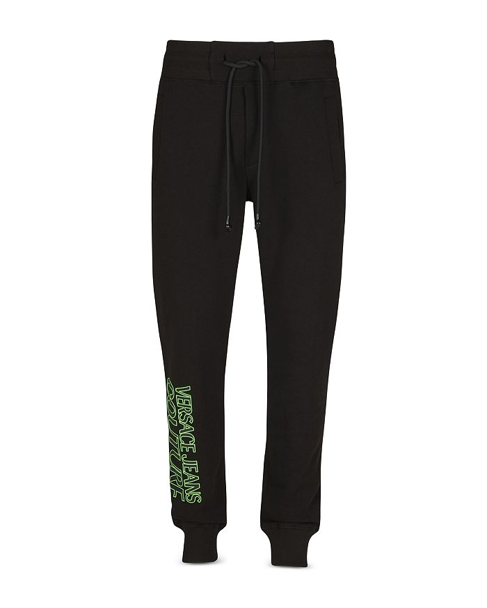 Versace Jeans Couture FLUORESCENT LOGO FLEECE JOGGER PANTS