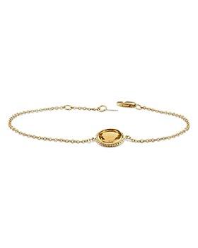 Bloomingdale's -  Citrine Link Bracelet in 14K Yellow Gold - 100% Exclusive