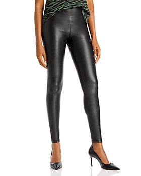 AQUA - Faux Leather High Waist Leggings - 100% Exclusive