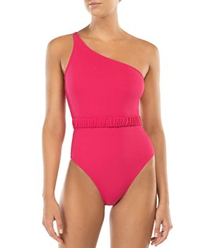 Peony - Belted One Shoulder Swimsuit