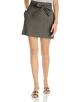 Theory - Belted Mini Skirt