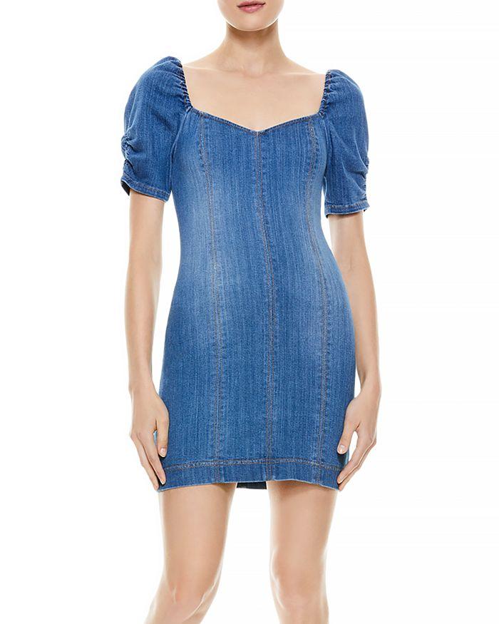 Alice and Olivia - Mimi Denim Short Sleeve Dress
