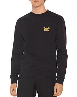 Sandro - Easy Cotton Embroidered Sweatshirt