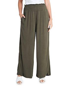 1.STATE - Smocked Wide Leg Gauze Pants